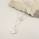 Athena Silver Coin Relic Double Chain Necklace