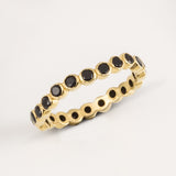 Oscura Black Onyx & Gold Stacking Eternity Ring