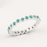 Oscura Turquoise & Silver Stacking Eternity Ring