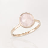 Austra Rose Gold & Rose Quartz Stone Ring
