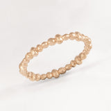 Perla Rose Gold Molten Stacking Ring