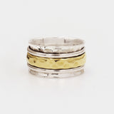 Laplace Gold & Sterling Silver Spinning Ring