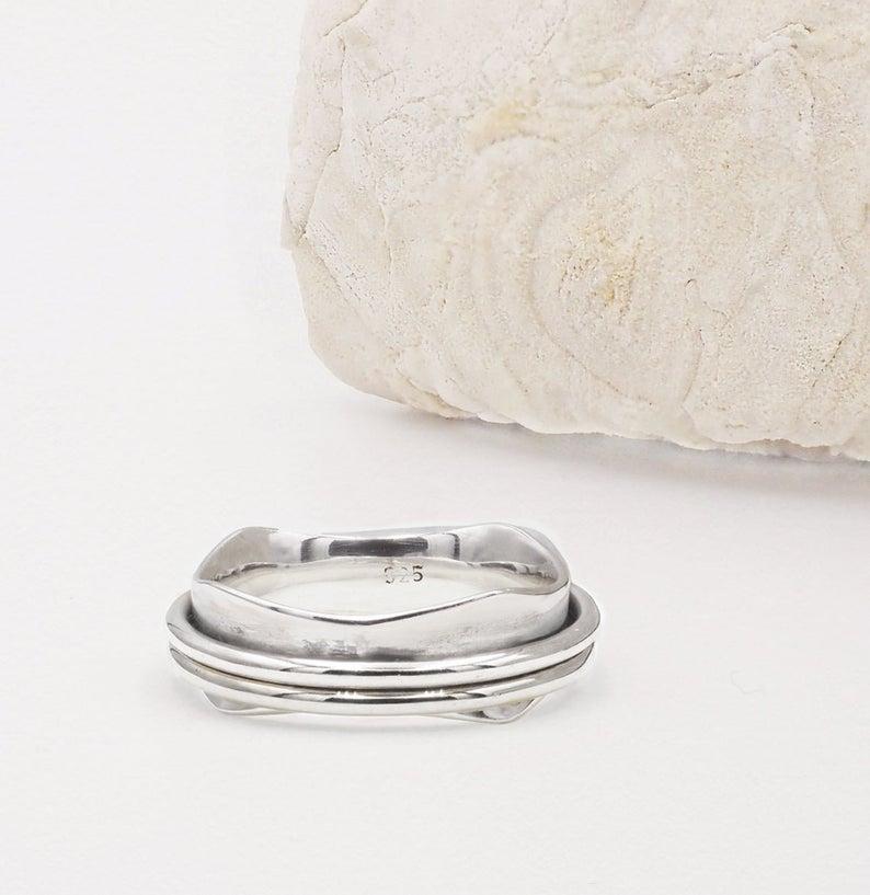 Sofia Sterling Silver Spinning Ring