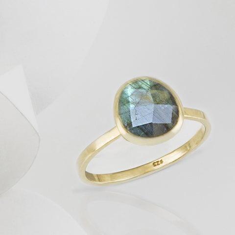 Austra Gold and Labradorite Stone Ring