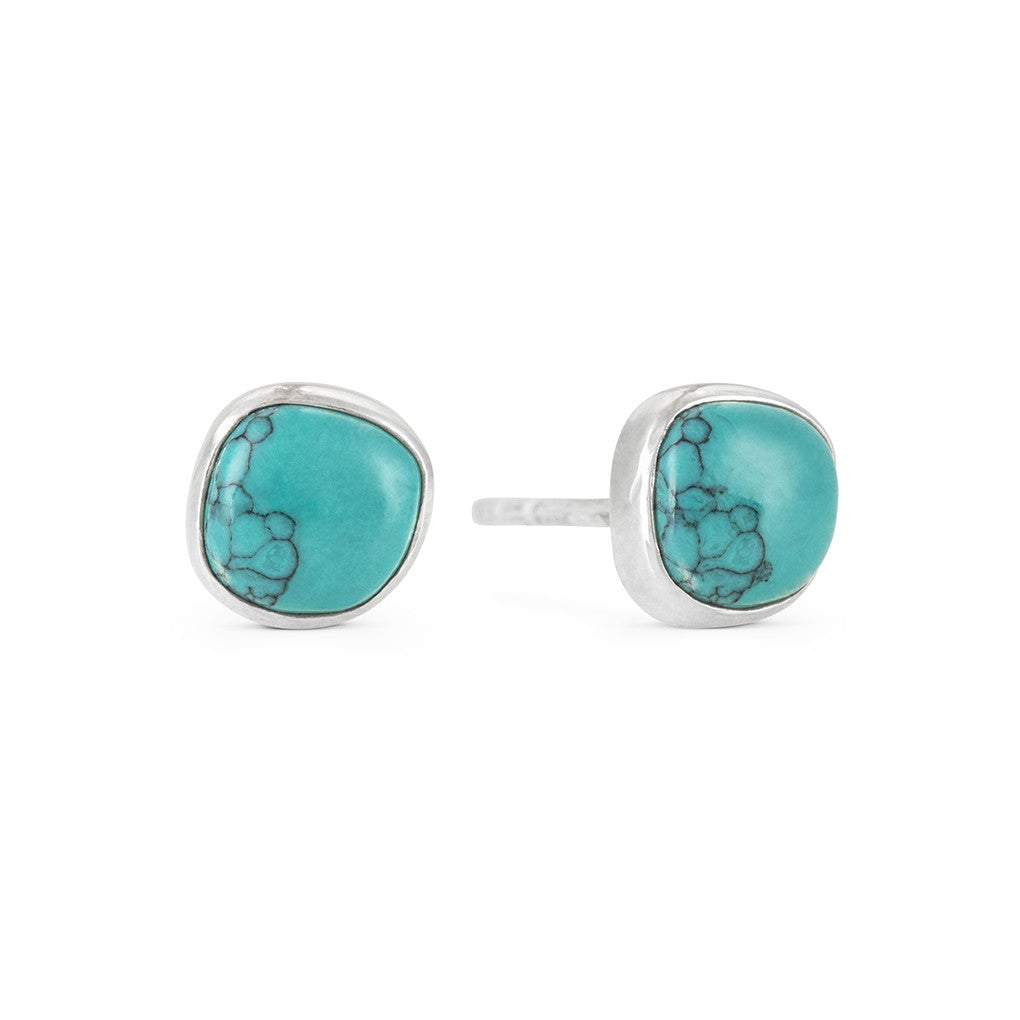 Azul Turquoise and Silver Stud Earrings