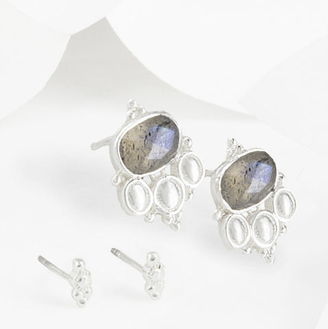 Cascabel Silver Boho Earring Set
