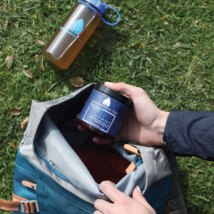Focus jar carry in backpack with focus in 16 oz Nalgene bottle