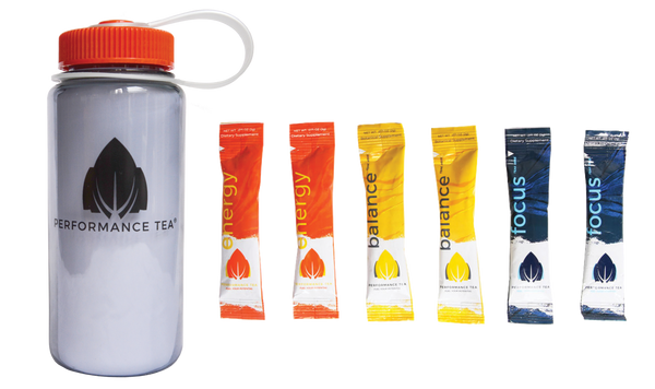 Performance Tea Sample Pack- Gray w/ Orange Top