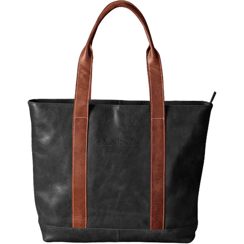 Two-Tone Leather Tote C320 (online only)-accessories-bags-Shop Denison