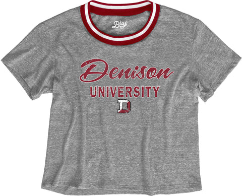 Blue 84 Crop Tee-women-tshirts-Shop Denison