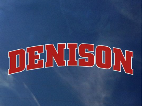Arched Denison Decal-gifts-decals-Shop Denison