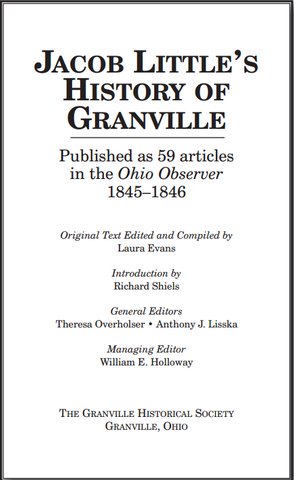 Jacob's Little's History of Granville-gifts-books-Shop Denison