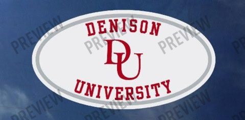 Decal: Oval Denison Over University-gifts-decals-Shop Denison