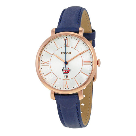Ladies Fossil Watch with Navy Leather Strap-accessories-jewelry-Shop Denison