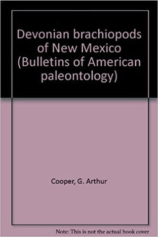 Devonian brachiopods of New Mexico (Bulletins of American paleontology)-gifts-books-Shop Denison
