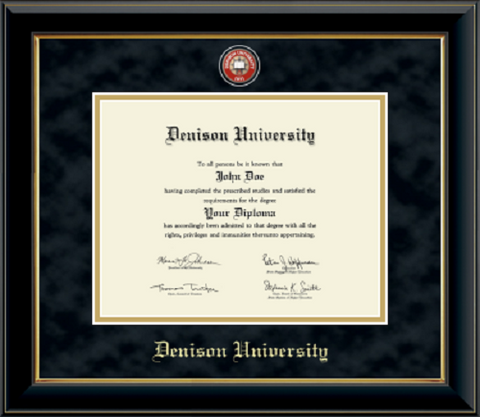 Masterpiece Onyx Gold Premium Suede Mat Diploma Frame-gifts-frames-Shop Denison