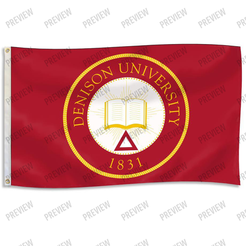 Flag with full color Denison Seal-gifts-flags-Shop Denison