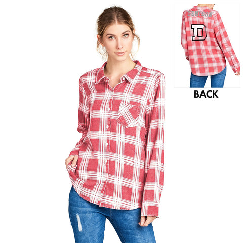 Flannel shirt by Spirit Jersey-women-tshirts-Shop Denison