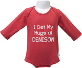 Long Sleeve Onesie (available in white and red)-youth-apparel-Shop Denison