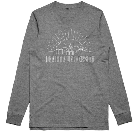 Long Sleeve Tee with Skyline-unisex-tshirts-Shop Denison