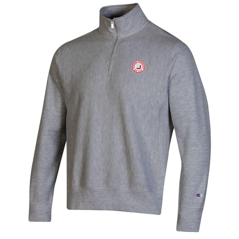 Reverse Weave Emblem Quarter Zip-mens-jackets-Shop Denison