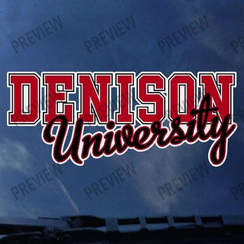 Decal: Denison Over University-gifts-decals-Shop Denison