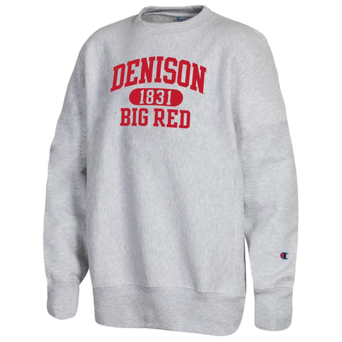 Youth Reverse Weave Crew Neck Sweatshirt-youth-apparel-Shop Denison