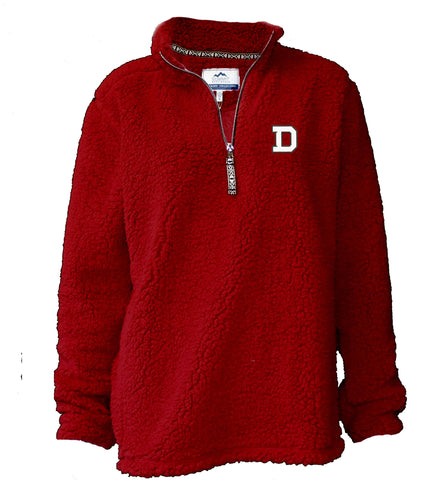 Sherpa Quarter Zip with Contrast Zipper Pull-women-jackets-Shop Denison