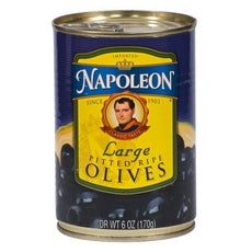 Napoleon Black Pitted Olives (12x6Oz)