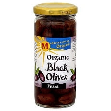 Mediterranean Organics Ripe Pitted Black Olives (12x8.1Oz)