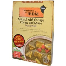 Kitchens Of India Palak Paneer Spinach With Cottage Cheese And Sauce (6x10Oz)
