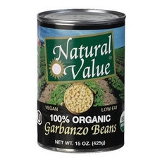 Natural Value Organic Beans Garbanzo (12x15Oz)