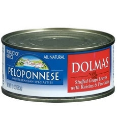 Peloponnese Stuffed Grape Leaves With Raisins & Pine Nuts, Dolmass (6x10Oz)