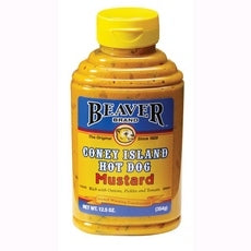 Beaver Coney Island Hot Dog Mustard (6x12.5Oz)