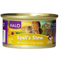 Halo Turkey Wet Cat Food (12x5.5Oz)