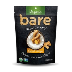 Bare Organic Sweet Ginger Coconut Chips (12x2.8 OZ)