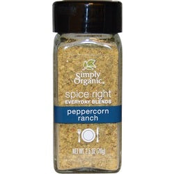 Simply Organic Organic Spice Right Everyday Blends, Pepperconrn Ranch (6X2.5 OZ)