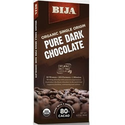 Bija Pure Dark Chocolate Bar Chocolate Bar (10x3.17 OZ)