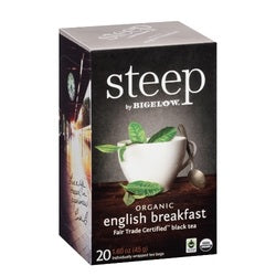 Bigelow  Steep Organic English Breakfast Black Tea (6x20 BAG )