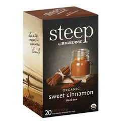Bigelow Steep Organic Sweet Cinnamon Black Tea (6x20 BAG )