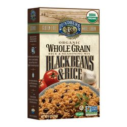 Lundberg Organic Whole Grain Black Beans Rice (6x6 OZ)