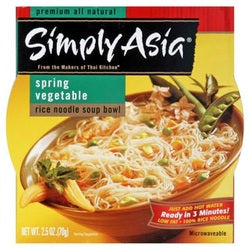 Simply Asia Spring Veg Rice Noodle (6x2.5OZ )