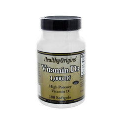 Healthy Origins Vitamin D3 1000 IU (180 Softgels)