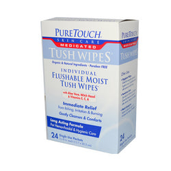 Puretouch Individual Flushable Moist Tush Wipes (24 Packets)
