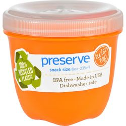 Preserve Food Storage Container  Round  Mini  Orange  8 oz  1 Count  Case of 12