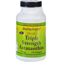 Healthy Origins Astaxanthin  Natural  Triple Strength  12 mg  150 Softgels