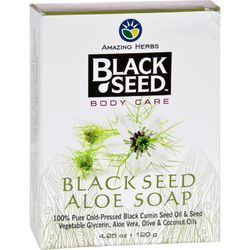 Black Seed Bar Soap  Aloe  4.25 oz
