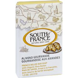 South of France Bar Soap  Almond Gourmande  Travel  1.5 oz  Case of 12