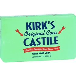 Kirks Natural Bar Soap  Coco Castile  Aloe Vera  Travel Size  1.13 oz