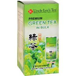 Uncle Lees Tea  Green  Premium  In Bulk  Loose  4.23 oz  Case of 6